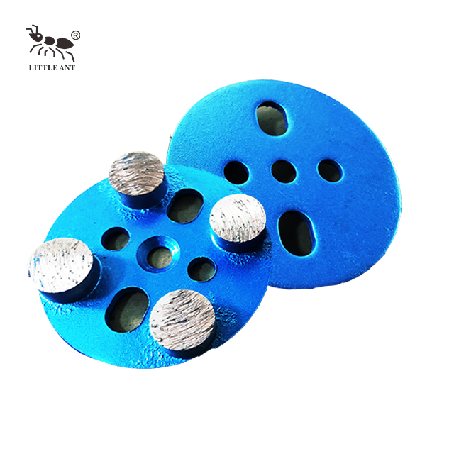 Metal Grinding Plate Circular Disc 4 Gears for Concrete Triangle Gear Dry And Wet Use Coarse