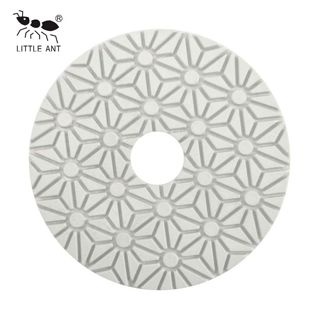 3-Step Flower Wet Polishing Pad Flexible diamond for stone marble granite terrazzo limestone concrete